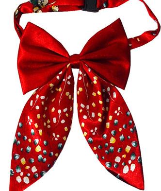红色蝴蝶结真丝领带