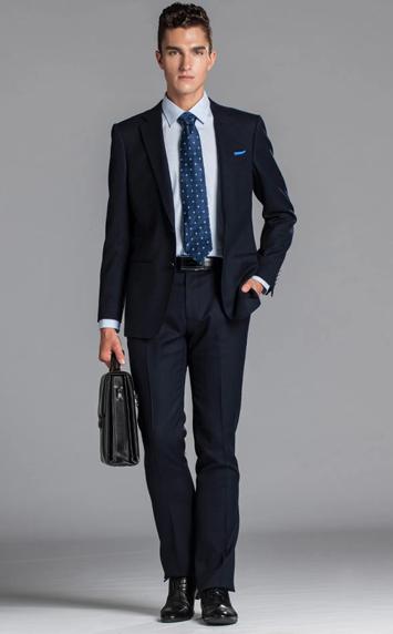 藏蓝商务男西服