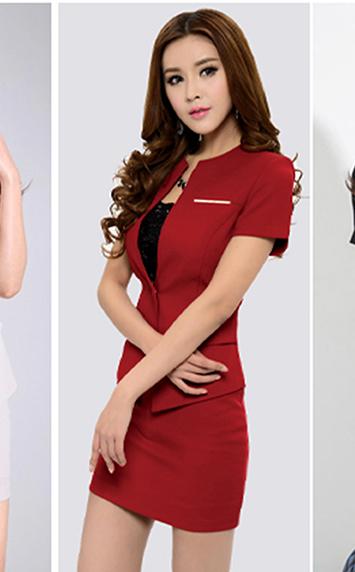 西服红色套装