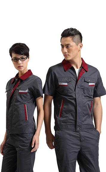 红灰拼接时尚工服