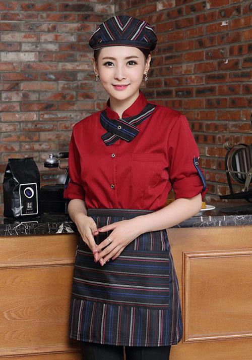 中餐厅酒店领班工作服怎么定制?
