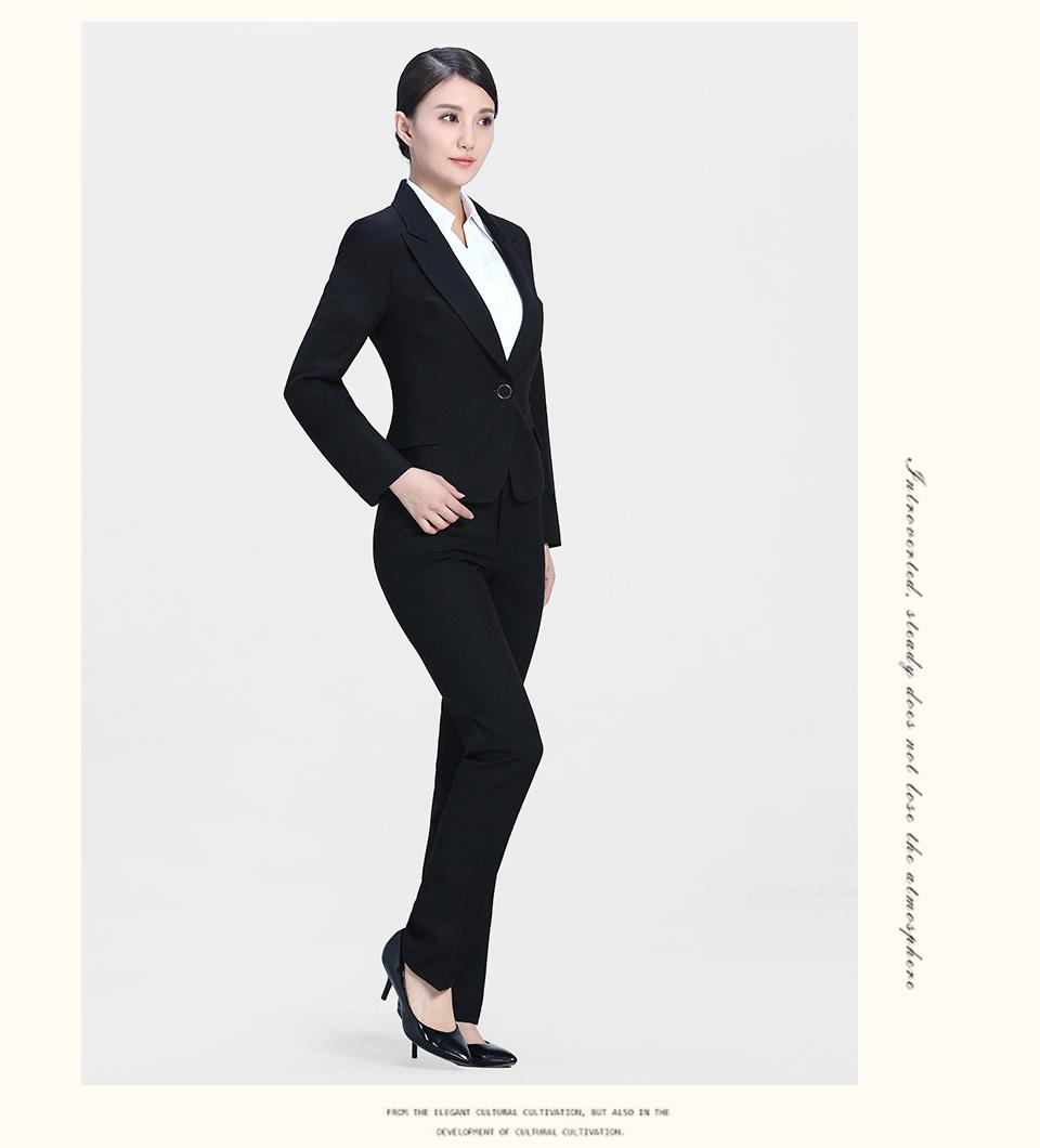 黑8女士西裤