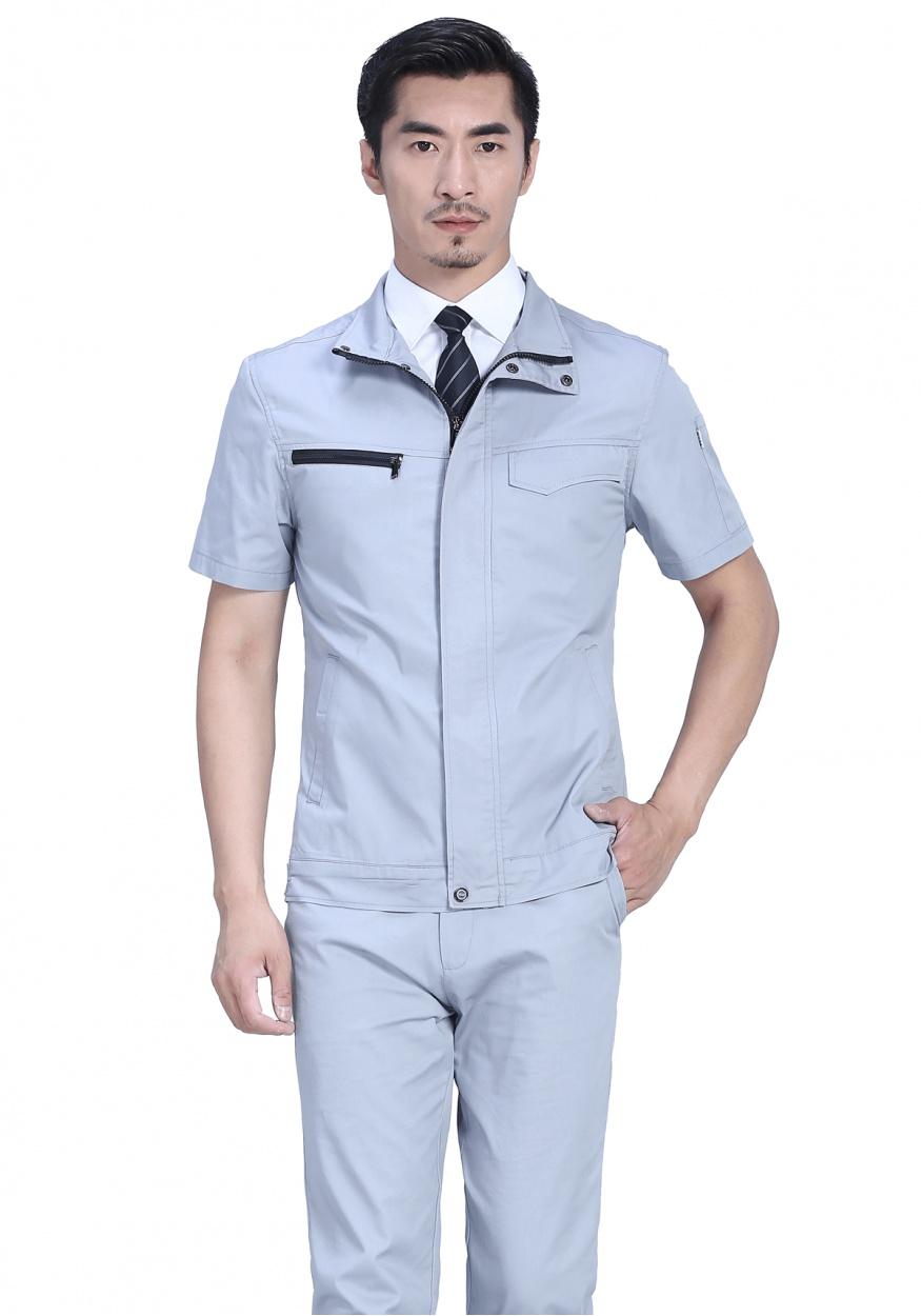 FY628银灰色夏季短袖工作服